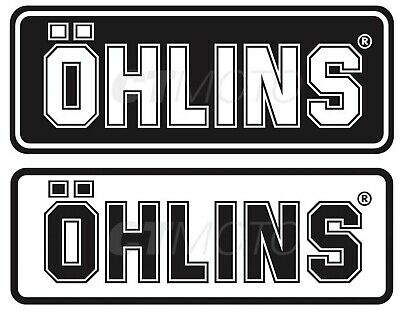 OHLINS FORK SHOCK DAMPER DECALS STICKER SET BLACK / CLEAR (2 options)