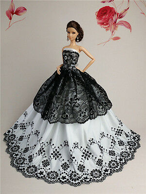 White Fashion Royalty Princess Party Dress//Clothes//Gown For 11.5in.Doll B134WH