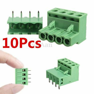 10pcs 2EDG 5.08mm Pitch 4Pin Plug-in Screw Terminal Block Connector Right Angle