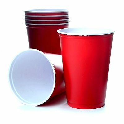 1000 x Red Solo Cups 10oz 295ml Rote Becher Beer Pong Red Cups USA Amerika