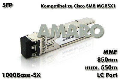 Cisco SMB Linksys MGBSX1 komp SFP 1G SX LC 550m 850nm MMF Transceiver