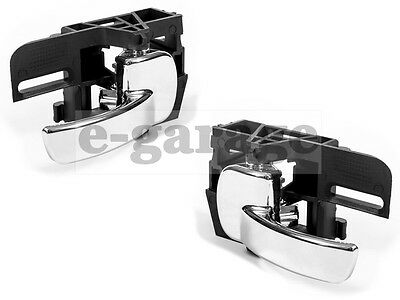 Pair Left/right Interior Inner Door Handle Chrome  Nissan Qashqai 2007 - 2010