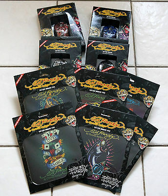 Ed Hardy Posten Mouse Pads Und Optical Mouse 31 Teile!!