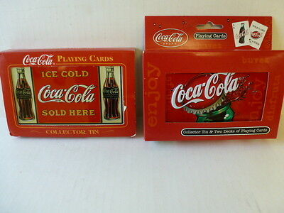 Coca Cola Lot of Playing Cards, 4 Decks and 2 Collectors Tins