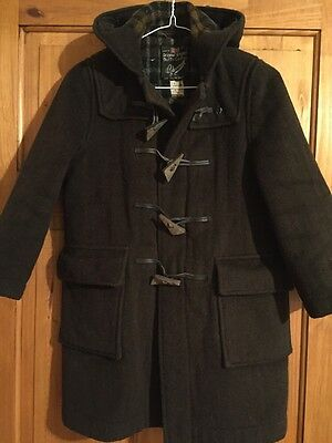 Genuine Vintage 70s Childs Glover all Duffle Coat Brown 9 years 134cm FREE P&P