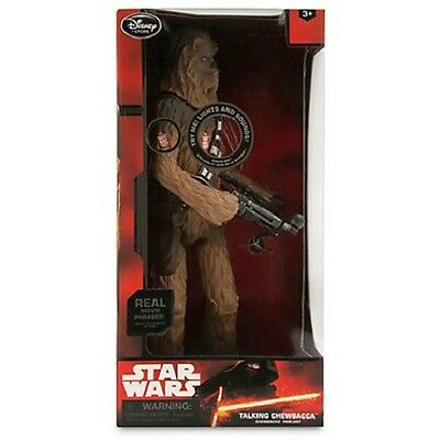 Disney Store Elite Exclusive Chewbacca Star Wars Talking Action Figure 15 1/2""