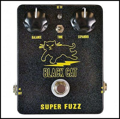Black Cat Pedals Super Fuzz Guitar Effects Pedal Hand Wired True Bypass