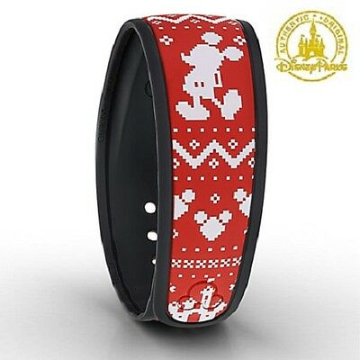 Authentic Mickey Mouse Holiday Sweater Magic Band Disney Parks Retired MagicBand