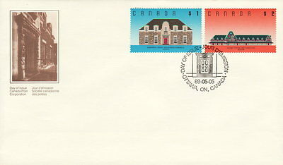 Canada #1181-1182 Architecture Definitive Combination First Day Cover