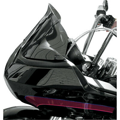 "Wind Vest 10"" Dark Smoke Flip Design Windshield Harley Road Glide FLTRX 98-13"