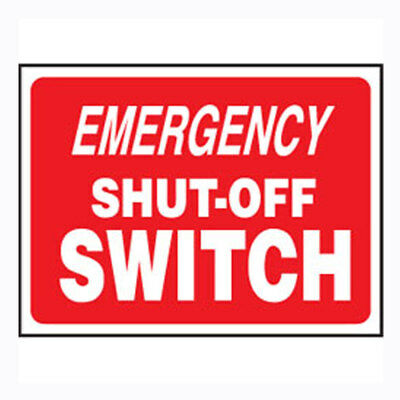 """Swimming Pool & Spa Plastic Safety Sign - Emergency Shut-Off Switch 9"""" X 12"""""""