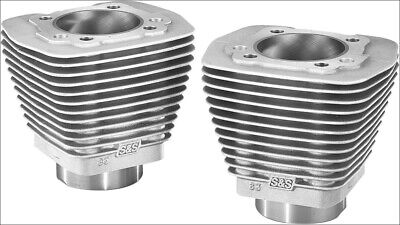 """S&S Cycle Natural 3.5"""" Bore Stock Repl Cylinders Harley Evolution EVO Big Twin"""