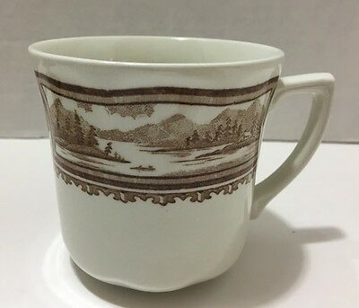 J & G Meakin Style House Americana Brown Transfer ware Tea or Coffee Cup