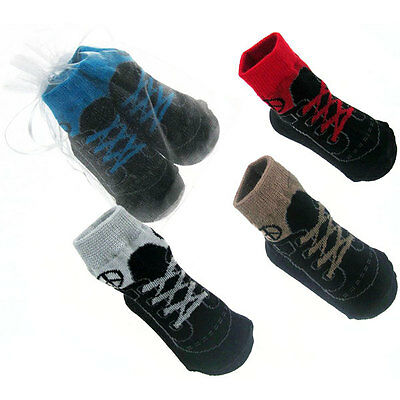 Boys 4 Pair Sneaker Style Socks By Soft Touch Age 6-12 Months