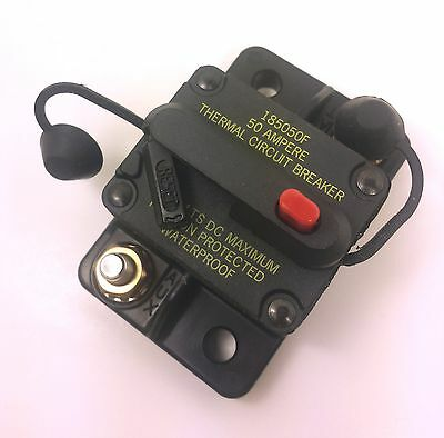 Bussmann DC Circuit Breaker 50 Amp Surface Mount Waterproof CB185-50 185050F