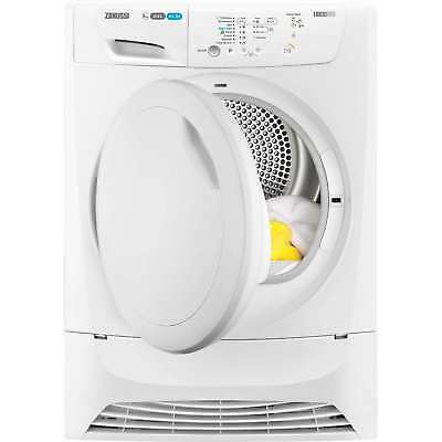 Zanussi ZDC8202P B Rated 8Kg 4 Temps Condenser Tumble Dryer in White New