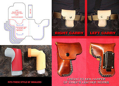 Inhaler Holster Template Set  For Leather Crafters With Design Options! New 2016