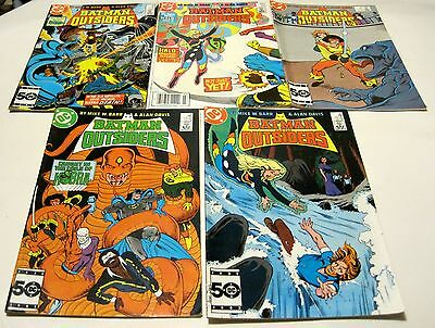 Lot of 9 Batman & the Outsiders #22-26,31 & Adventures of Outsiders #33,34 DC