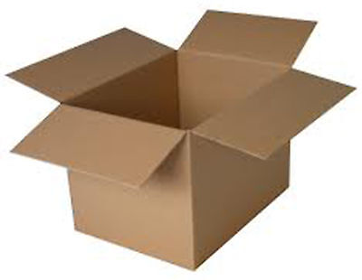 """Cardboard Boxes - 15 x 15 x 15 cm 6"""" Small Square Packaging Box Brown 1,5,10,50"""