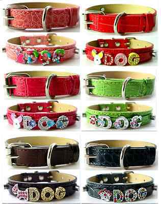 Croc Rhinestone Dog Pet Cat Puppy Personalized Collar Crystal Name Free Shipping