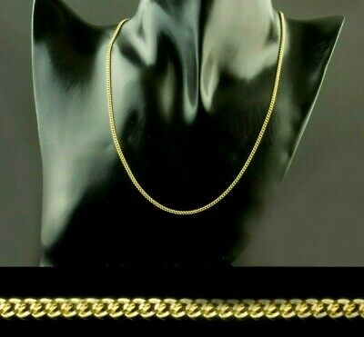 """Gold Filled 2mm Solid Curb Necklace Mens Womens Girls Chain 16"""" 18 20 22 24 26"""""""