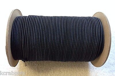 "1/8"" X 500 FT Bungee Cord Shock Cord Bungie Cord Marine Grade Made in USA!!! BLK"