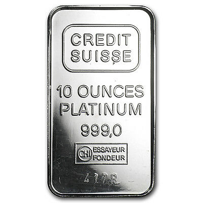 10 oz Platinum Bar - Secondary Market - SKU #8550