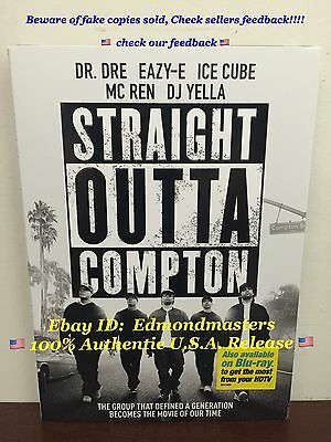Straight Outta Compton 2016 DVD Brand New Sealed (BEWARE OF CHEAP FAKES SOLD)