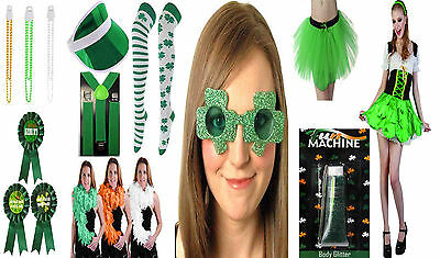 New Fancy Dress Irish Costume St Patrick's Day Parade Bar Dancer Hat Party Wear