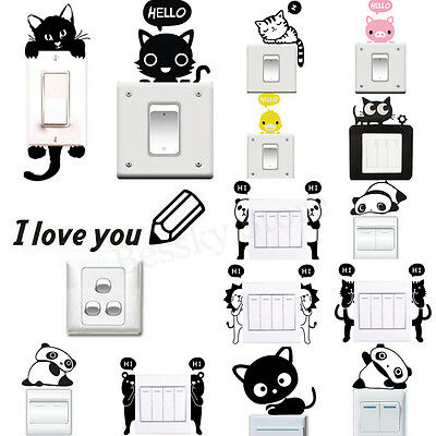 Various Wall Stickers Light Switch Decor Decals Art Mural Living Room Home Decor