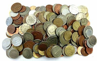 Huge Mixed Bulk Lot Of 100 Assorted World/foreign Coins! Mostly 20Th Century