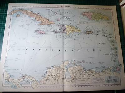 Map From Philip's Atlas 1931 - The West Indies...........151-52/31