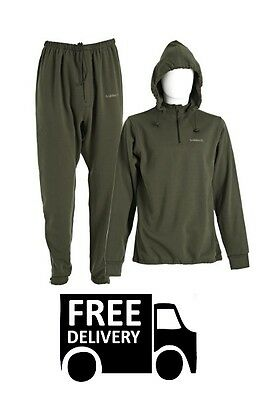 Trakker Elite 2 Piece Thermal Undersuit Base Layer Carp Fishing RRP £49.99