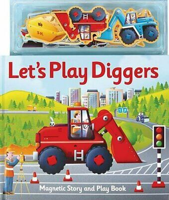 Let's Play Diggers (Magnetic Let's Play) by Clover, Alfie Hardback Book The