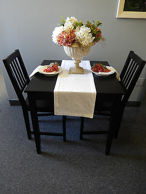 "Organic Essentials White Woven Cotton Table Runner 12"" x 72"""