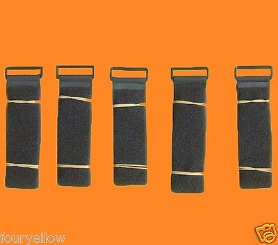 5 SANGLE VELCRO SCRATCH GRIP NOIRE 50mm x 1m sangle straps velcros