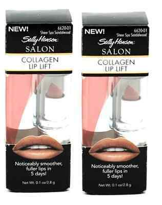 Sally Hansen Salon Collagen Lip Lift, Sheer Spa Sandalwood (2 Pack)