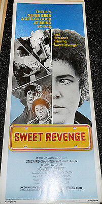 Sweet Revenge! '77 Stockard Channing Original Insert Film Poster!