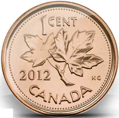 2012 2 Canadian Pennies $0.01 1 Magnetic 1 NonMagnetic *LAST YEAR OF THE PENNY*