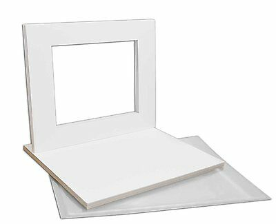 Set of 10 16x20 CRESCENT WHITE Mats with WhiteCore for 11x14 +Backing +Bags