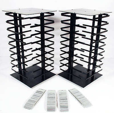 2 Earring Rotating Display Stands Revolving 200 Cards