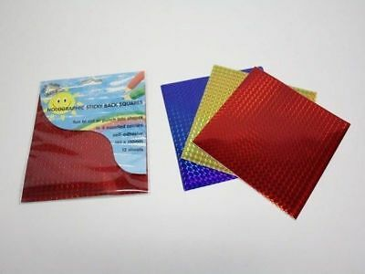 24 packs of 12 holographic sticky back sheets 4 colours bulk wholesale lot
