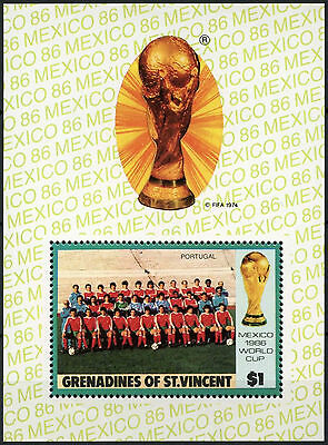Grenadines Of St. Vincent 1986 $1 World Cup Football MNH M/S #D7394