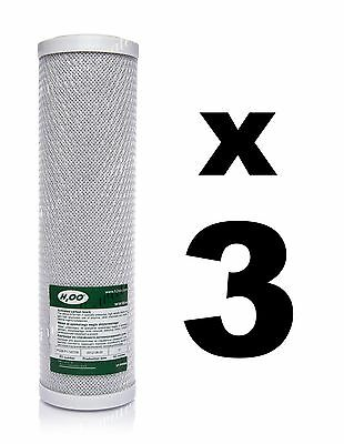 "3 x CARBON BLOCK FILTERS FOR REVERSE OSMOSIS UNITS, 10"",RO,WATER FILTER FCCBL"