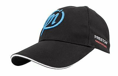 Preston Innovations Baseball Cap Fishing Hat Black W/blue Logo One Size Fits All