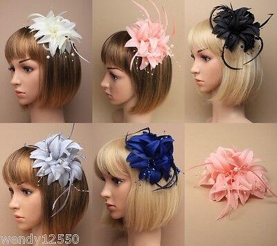 Pack Of 3 / 4 Layered Flower Fascinators On Clip, Wedding, Races Ascot, Occasion
