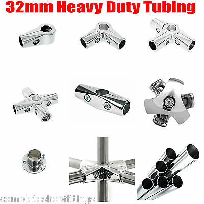Wall Mounted 32mm Clothes Rail Tube Garment Hanging Pipe Walk In Wardrobe Chrome