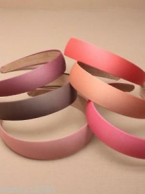 PACK OF 6 COLOURED SATIN FABRIC ALICE BANDS, 3cm, HAIR ACCESSORY - SP-5927 PK6