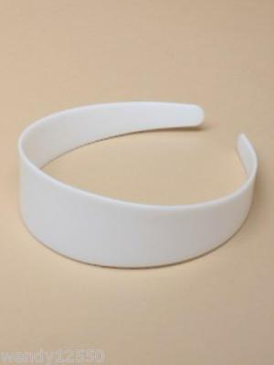 PACK OF 12 WHITE 4cm PLASTIC ALICE BANDS CORE, HAIR ACCESSORY - SP-6111 PK12