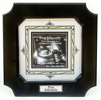 "FIRST SILHOUETTE Ultrasound Sonogram Birth Announcement Photo Frame, 6"" by 6"""
